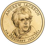 1 доллар 2008 год  7-й президент  Эндрю Джексон