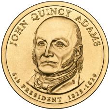 1 доллар 2007 год  2-й президент Джон Адамс