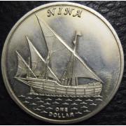 """1 доллар 2016 год Острова  Гилберта .  """"Корабль Нинья"""""""