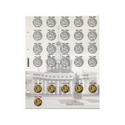 Комплект разделителей для монет регулярного  выпуска монет России с 1997 г (6 штук)
