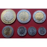 Набор монет  Мексика 2011-2014 г.г