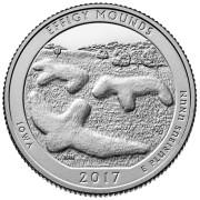 25 центов 2017 год 36-й Национальный парк Эффиджи-Маундз (Effigy Mounds)