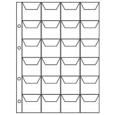 Вертикальный лист для монет 24 ячейки