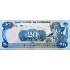 20 кордоб 1985 год .  Никарагуа