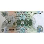 5 шиллингов 198 год . Уганда