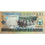 100 франков 2003 год .  Руанда