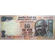 10 рупий 2009 год . Индия