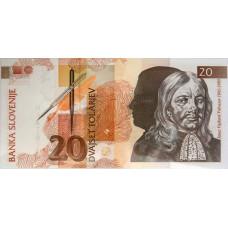 20 толаров 1992 год .  Словения