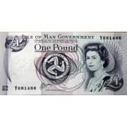 1 фунт 1983 год . Мен