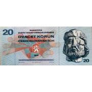 20 крон 1970 год . Чехословакия