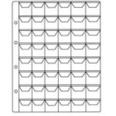 Вертикальный лист для монет 48 ячеек