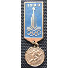 Значок  -   Олимпиада 1980, бег
