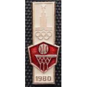 Значок  - Олимпиада 1980, баскетбол