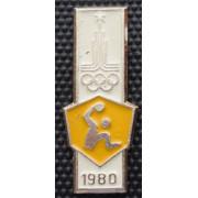 Значок  - Олимпиада 1980, гандбол
