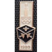 Значок  - Олимпиада 1980, фехтование