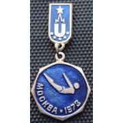 Значок  - Универсиада 1973, прыжки в воду