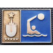 Значок  - Универсиада 1973, водное поло