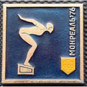 Значок  - Олимпиада Монреаль 1976, плавание