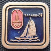 Значок  - Олимпиада 1980, парусный спорт