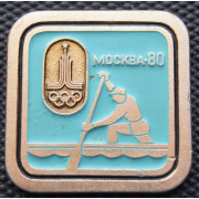 Значок  - Олимпиада 1980, гребля