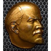 Значок  В. И. Ленин (голова)